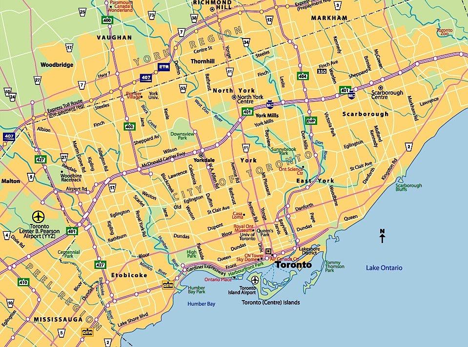 Map of Toronto neighborhoods