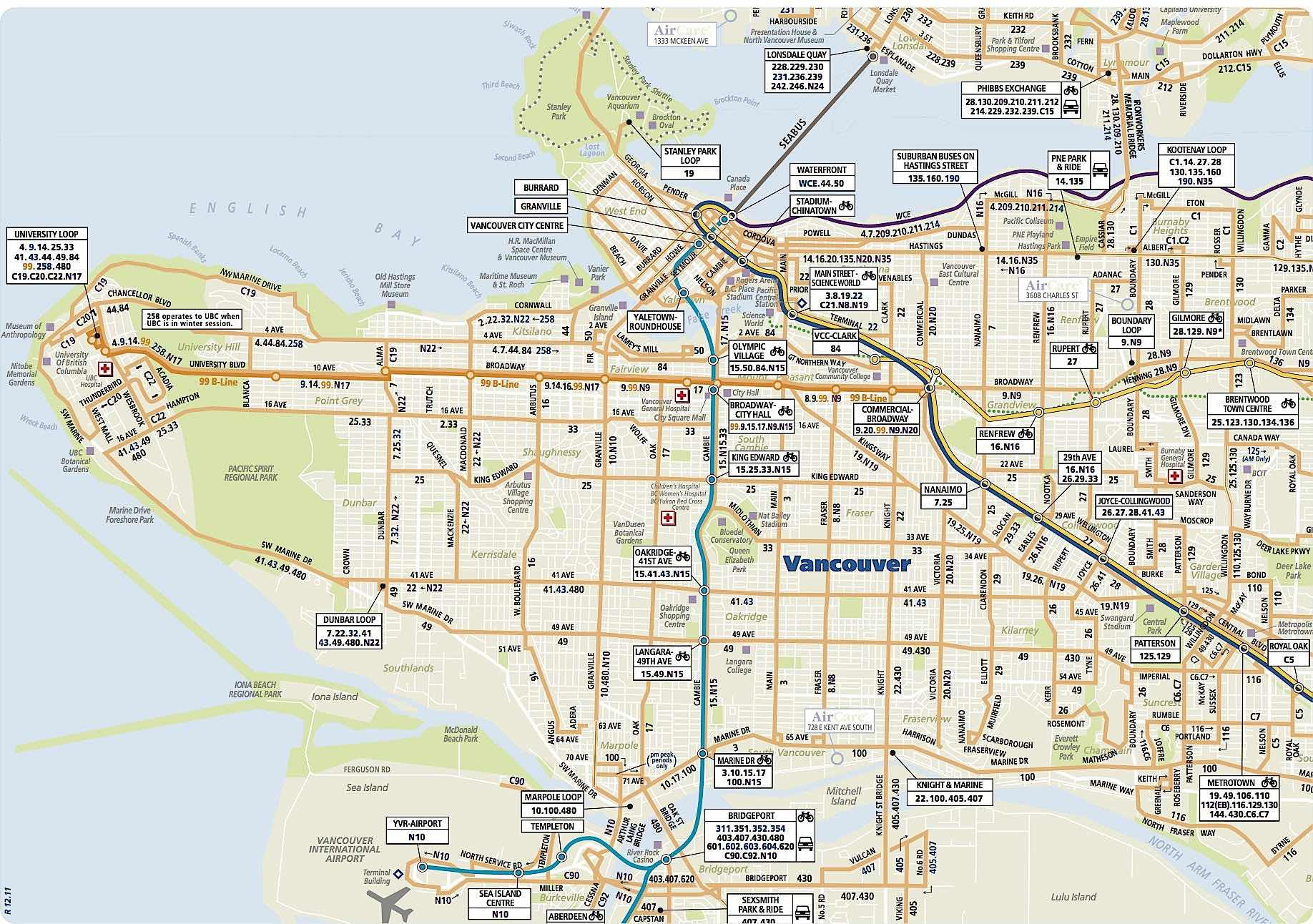 Map of Vancouver neighborhoods