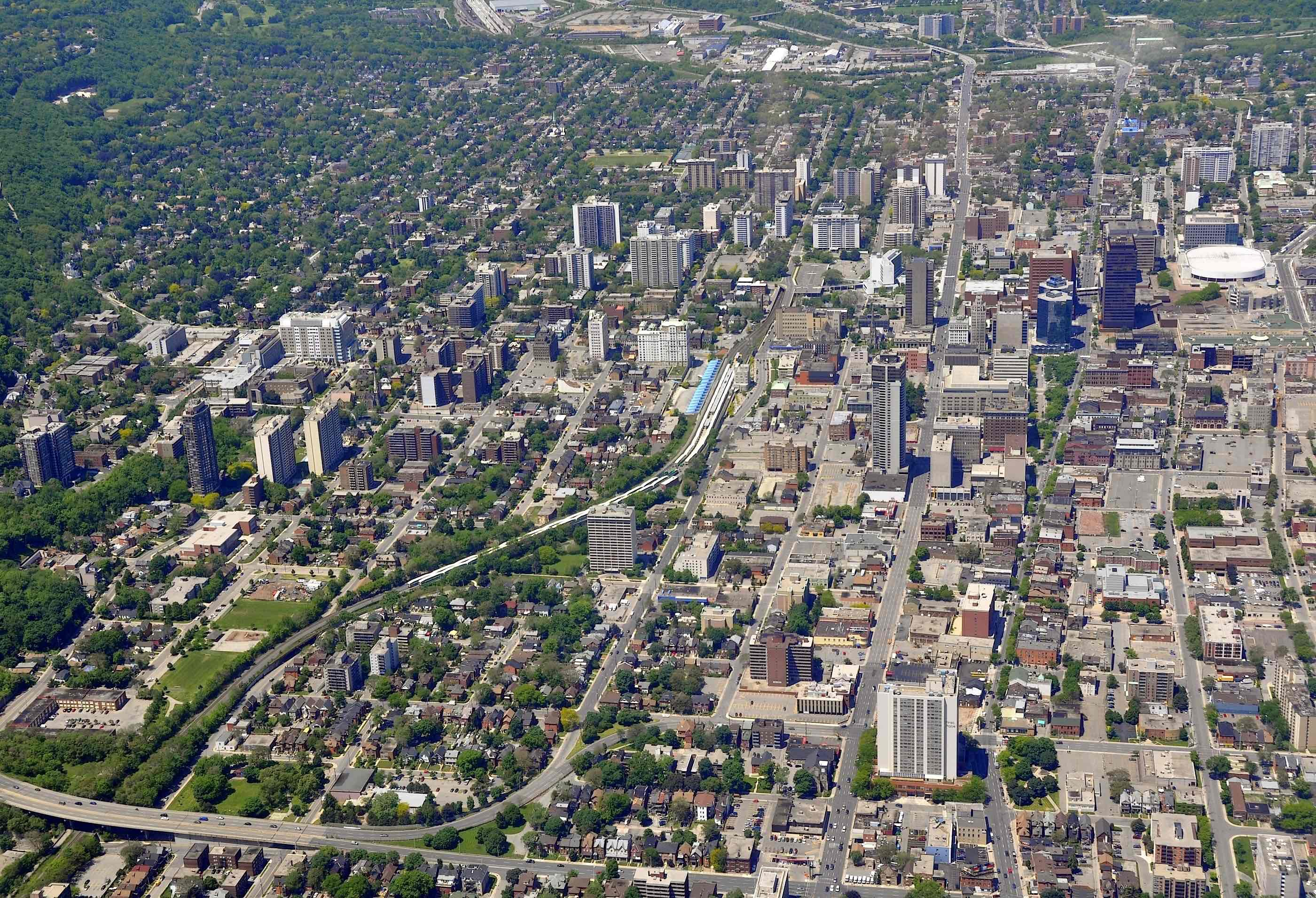Downtown Hamilton in Ontario, Canada