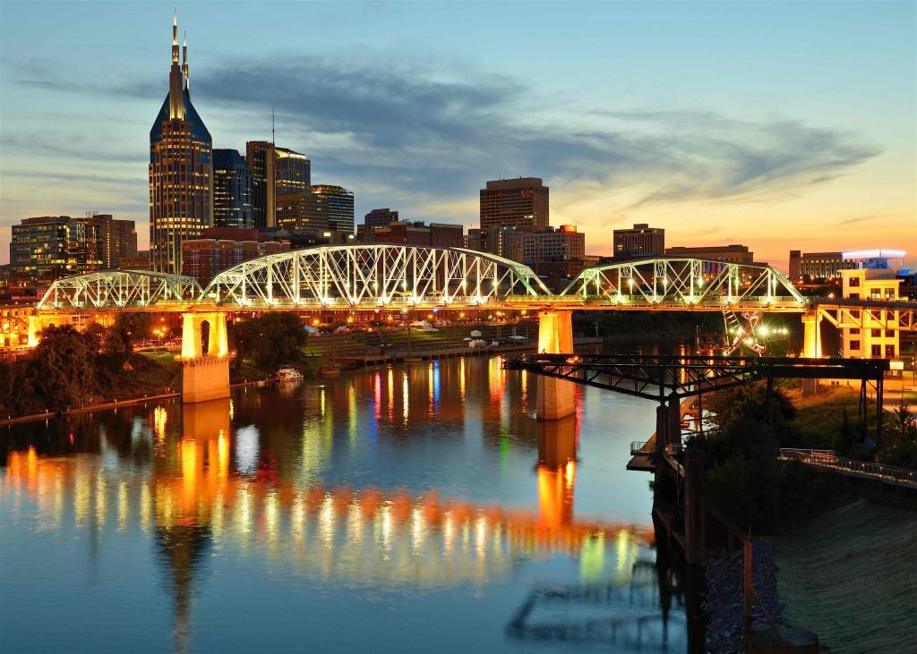 Oak Hill szállás és térkép. Minden terület térképe Nashville (Tennessee) Amerikai Egyesült Államok területén, bevásárlóközpont, vasút, kórház és még sok más.